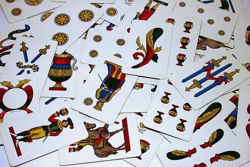 Segnacarte for Due di bastoni carte napoletane